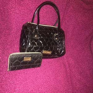 Betsey Johnson purse w/ matching wallet
